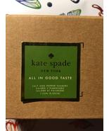 """KATE SPADE ♠️ NEW YORK """" ALL IN GOOD TASTE """" Salt & Pepper set - $26.99"""