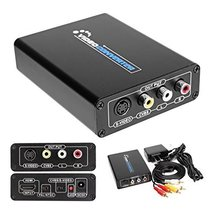 Paddsun 3RCA/AV/CVBS Composite & S-Video R/L Audio to HDMI Converter Ada... - $28.89