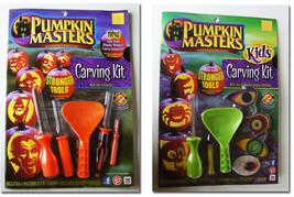 Halloween ~ Pumpkin Masters Carving Kit ~ NEW ~ Orange & Green - $3.95 CAD