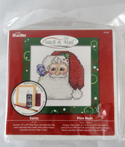 "Santa Bucilla Stitch & Mail Cross Stitch Kit 4.5"" x 4.5"" in Included Frame - $7.50"