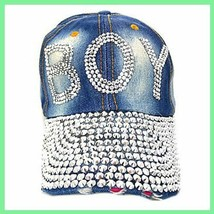 BOY BLING Ball Cap Denim NEW image 1