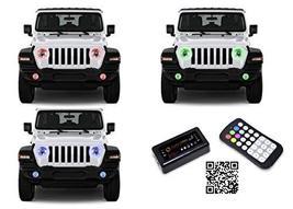 FLASHTECH LED RGB Multi Color Halo Ring Headlight and Fog Light Kit for ... - $320.46
