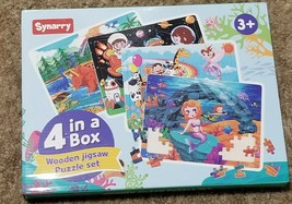 SYNARRY Wooden Jigsaw Puzzles for Kids Age 3+ Brand new 4 Pack - $19.00