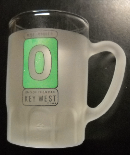 Key West Shot Glass Miniature Mug Style Double Size 1994 End Of The Road Green - $7.99