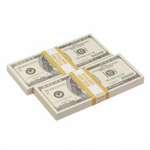PROP MOVIE MONEY - 2000 Series $100s $20,000 Full Print Prop Money Package - $44.99