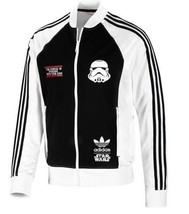 New Adidas Original Rare Stormtrooper Star Wars Track Jacket White Hoodi... - $119.99