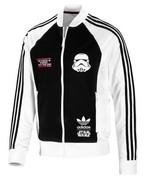 New Adidas Originals Rare Darth Vader Star Wars Track Jacket White Hoodi... - $119.99