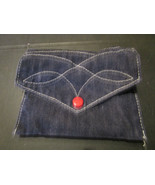 """Jean Material Button Pouch 5.5"""" x 4.5"""" - $6.37"""