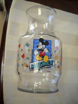 Disney's Mickey Minnie Mouse Vintage Anchor Hocking Glass Juice Carafe P... - $17.64