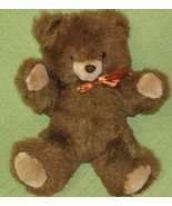 "16"" 1985 Commonwealth TEDDY BEAR Brown Plush Stuffed Animal Toy Vintage ... - $29.70"