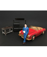 Mechanic Larry Taking Break Figure For 1:24 Scale Models by American Dio... - $15.82