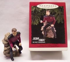 Hallmark Keepsake Star Trek COMMANDER WILLIAM T. RIKER CHRISTMAS ORNAMEN... - $24.74