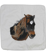 Embroidered Cushion Pillow Cover Marine Art Throw Pillow Banks Pony Horse - $19.95