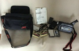 Jvc Compact Vhs Camcorder GR-AXM510 With Charger - Battery - Case Tapes - Tested - $79.16