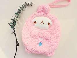 Molang Cosmetic Makeup Pen Strap Pouch Bag Case (Pink) image 2