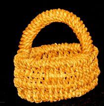 Handmade Woven Wicker Basket with Handle AA-191713 Vintage Collectible image 3