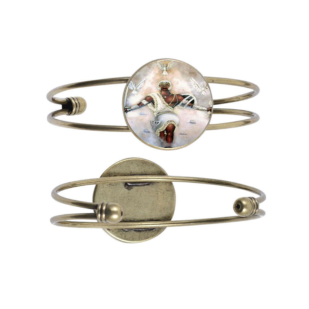 Primary image for Obatala 6 Bronze Color Cuff Bracelet with Centerpiece