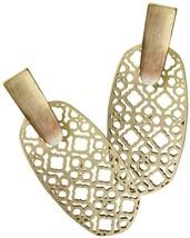 Auth NEW Kendra Scott ARAGON GOLD FILIGREE Drop Earrings & Dust Cover - $59.80