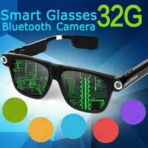 Smart Glasses Wireless Bluetooth Headset Sunglasses with Camera 5MP HD 7... - $205.69+