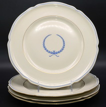 *FLAWS* Rosenthal Empire 4 DINNER PLATES Blue Wreath, Lightly Used, ***F... - $32.99