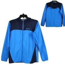 Columbia youth kids rain jacket size L zip up hoodie windbreaker (F-3) - $14.63