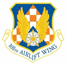 USAF 105th Airlift Wing 12'' Sticker Military - $24.74