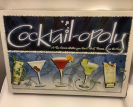 Cocktail-opoly Board Game Drinking Bar Mixology Cocktails Adult New Seal... - $15.84