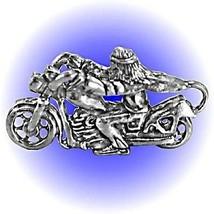 Biker Easy Rider Pewter Figurine - Lead Free - $9.00