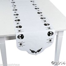 Halloween SPOOKY SOIREE Paper TABLE RUNNER Party Decoration SPIDERS & SK... - $11.75