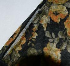 ZigZag Stripe Brand Black Floral Peek A Boo Button Womens Cardigan Size XL image 4