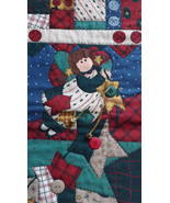 """Jumbo Quilted Look Jumbo Christmas Stocking 19-20""""'' Buttons, Bells - $17.18"""