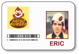 ERIC FORMAN FATSO BURGER THAT 70'S SHOW NAME BADGE HALLOWEEN PROP PIN BACK - $14.84
