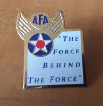 """AFA The Force Behind The Force Air Force Wings Lapel Pin 1"""" x 3/4 - $12.86"""