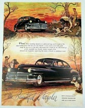 1947 Print Ad Chrysler 2-Door Cars Farm Country Road - $11.72