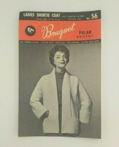 Bouquet Polar QuickNit Vintage Pattern 4 Ply Sweater Pattern Ladies Shor... - $5.99