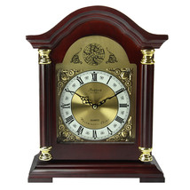 Bedford Clock Collection Redwood Mantel Clock with Chimes - $62.41