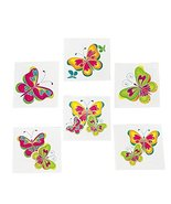 tkpartysupplies4u 72 Butterfly Tattoos Girl's Butterflies Birthday Party... - $10.89