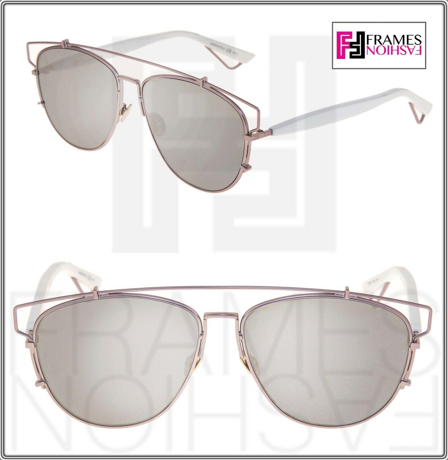 CHRISTIAN DIOR TECHNOLOGIC White Lilac Flash Mirrored Sunglasses DIORTECHNOLOGIC