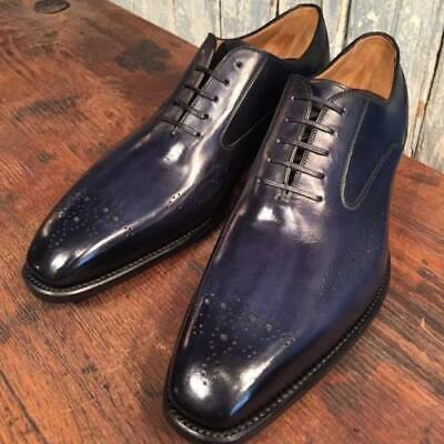 Handmade Men's Purple Color Brogues Style Dress/Formal Oxford Leather Shoes