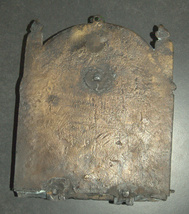 Antique Judaica Hanukkah Israel Pre 1948 Oil Menorah 10 Commandments Hanukkiah image 6