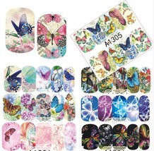 """HS Store -1 Sheets Nail Sticker Butterfly """"A1298"""" Nail Decorations UV Gel Polish image 2"""
