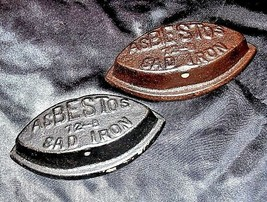 Asbestos 72-B Sad Irons AB 565-G Antique