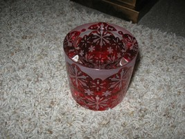 PartyLite Winter Lace Votive Holder ~ Red w/ Snowflakes P91127 NIB - $35.00