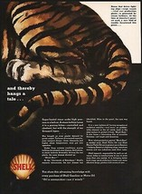 Vintage magazine ad SHELL gas oil from 1942 clamshell logo picturing a tiger - $11.69