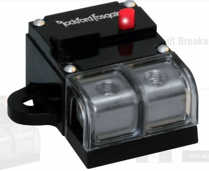 NEW ROCKFORD FOSGATE RFCB100 100 WATT PLATINUM PLATED CIRCUIT BREAKER