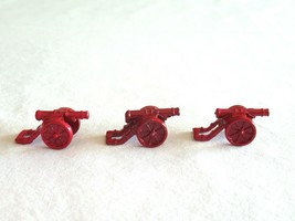 3x Risk 40th Anniversary Edition Board Game Metal Cannon Piece Red Army Lot - $9.99