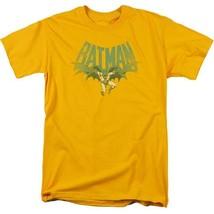 Batman T-shirt 80s comic book retro 80s cartoon DC gold graphic tee DCO730 image 2