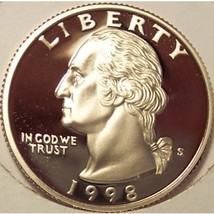 1998-S DCAM Proof Washington Quarter PF65 #775 - $4.79