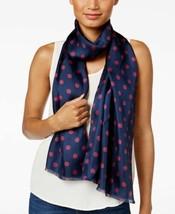 Lauren Ralph Lauren Michelle Polka Dot Silk Scarf (Navy/Wine, One Size) - $44.90