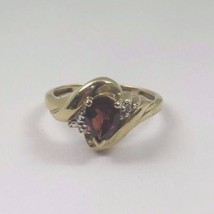 10k Yellow Gold Women's January Birthstone Ring With A Pear Shaped Garne... - $247.78